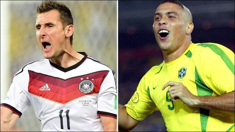 Avec combien de buts Miroslav Klose a-t-il battu le record de buts par un seul joueur, dépassant d'une unité le le Brésilien Ronaldo ?