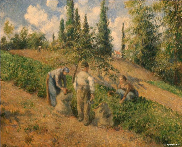 """Quel peintre impressionniste a peint """"Les ramasseurs de pommes de terre"""" ?"""
