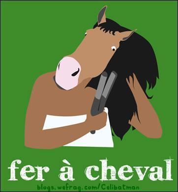Vous voulez accrocher un fer à cheval sur la porte. Attention ! Pour qu'il vous porte chance ...