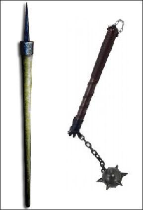 Histoire - Comment appelle-t-on cette arme médiévale d'origine flamande ? (à gauche sur la photo pour être exact)
