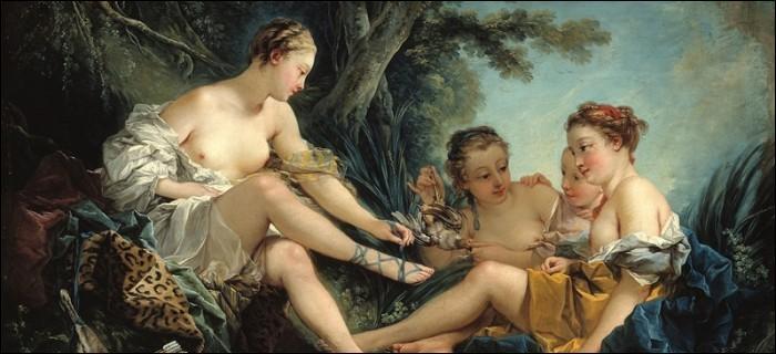 Qui a peint Le repos des nymphes ?
