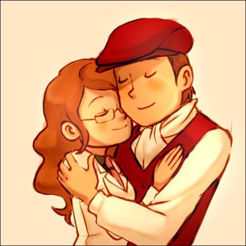 Qui est cette jeune femme dans les bras de Layton ?