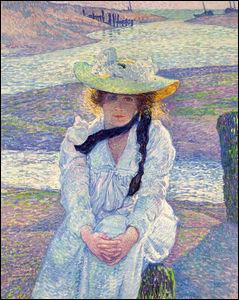"""Qui a peint """"Jeune femme sur la plage de sable"""" ?"""