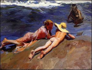 """Qui a peint """"Sur le sable, plage de Valence"""" ?"""