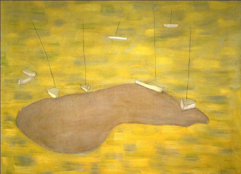"""Qui a peint """"Banc de sable et bateaux"""" ?"""