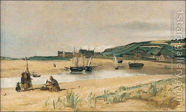 """Qui a peint """"Plage de sable avec bateaux et pêcheurs"""" ?"""