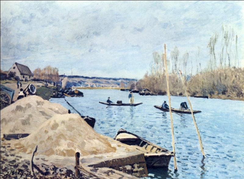 """Qui a peint """"La Seine à Port Marly - les piles de sable"""" ?"""