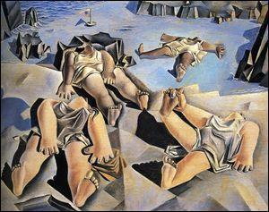 """Qui a peint """"Figures couchées sur le sable"""" ?"""