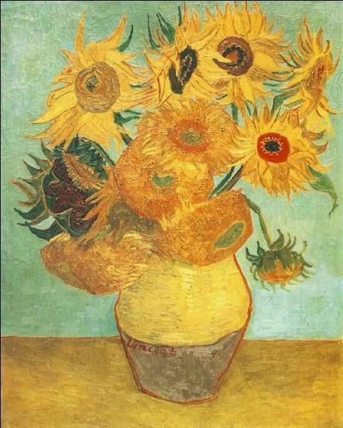 """Des soleils pour l'été : qui a peint """"Les Tournesols"""", nom attribué à chacun des sept tableaux de cette série ?"""