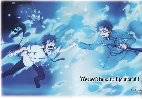 En taille, Yukio est plus grand que Rin.