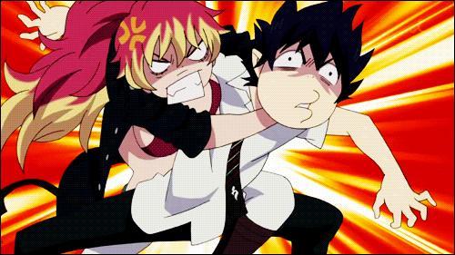 Shura enseigne à Rin le maniement de l'épée.