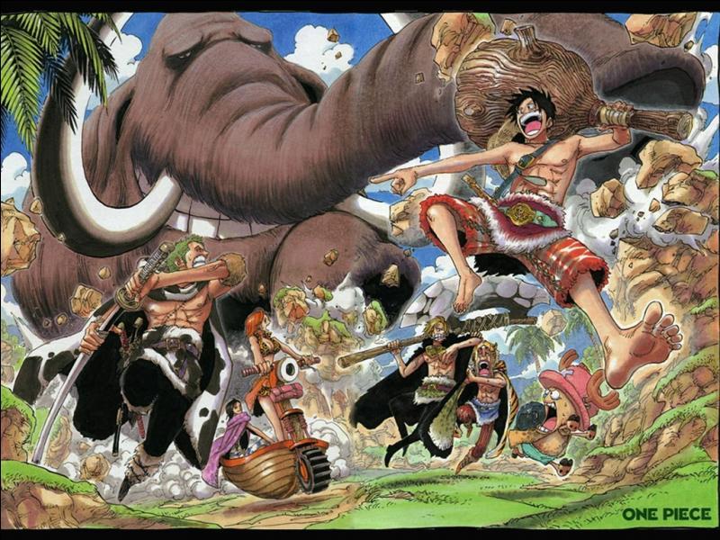 Lequel de ces personnages ne s'est pas muni d'arme pour attaquer un mammouth ?