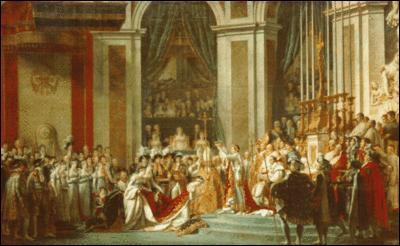 Napoléon fut sacré à Notre Dame de Paris, qui a représenté son sacre sur cette toile ?