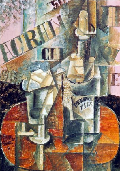 Qui a peint Bouteille de Pernod et verre ?