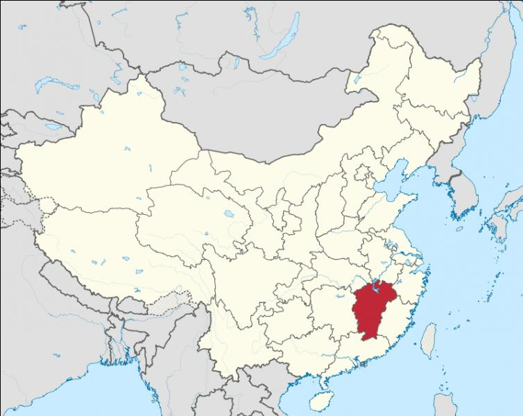 Quelle est la capitale de la province de Jiangxi ?