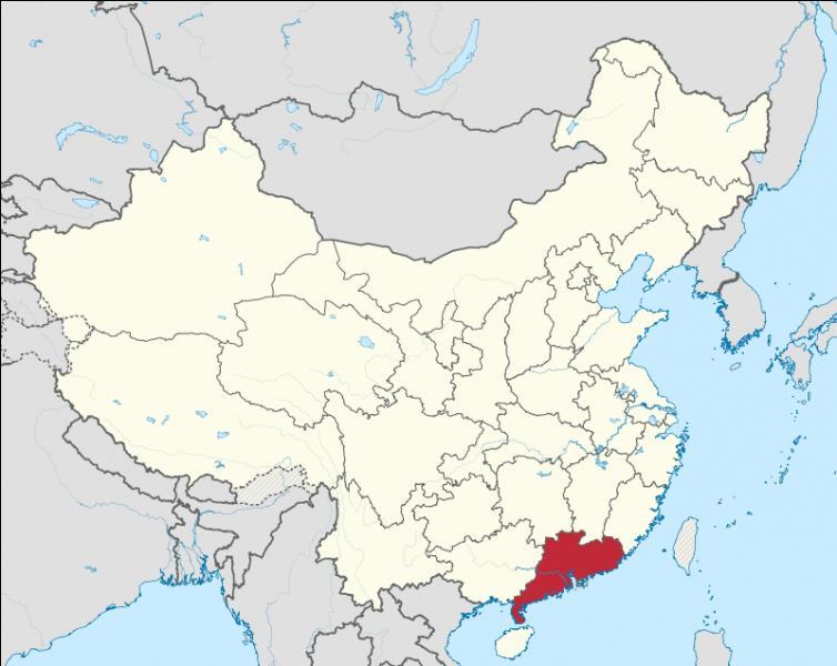 Quelle est la capitale de la province de Guangdong ?