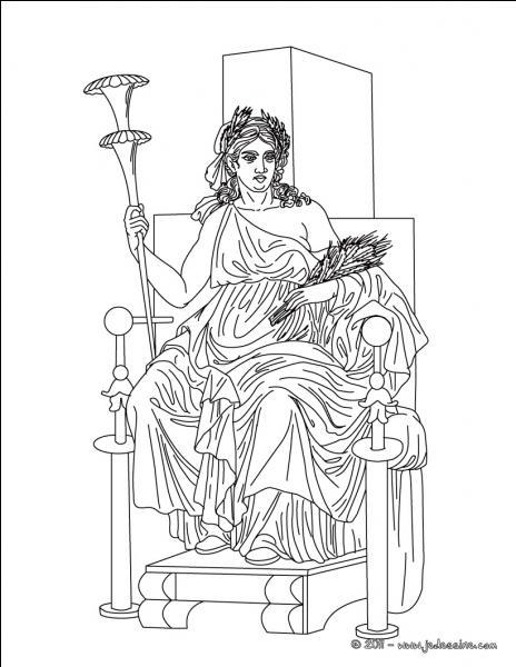 Qui est la mère de la femme d'Hadès (Elle représente donc la mère) ?