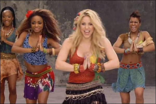 "2010. Shakira : ""Tsamina mina, eh eh ..., eh eh / Tsamina mina zangalewa / This time for Africa"" ! (clip)"