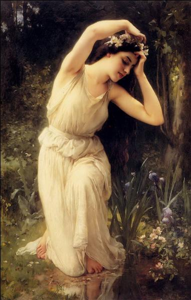 Qui a peint Nymphe en forêt ?
