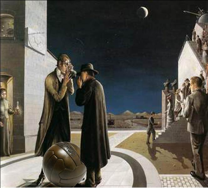 Qui a peint Coup d'envoi au clair de lune ?