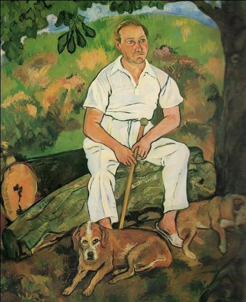 Qui a peint André Utter et ses chiens ?