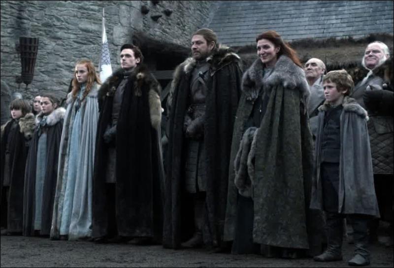 Quand le roi arrive, qui, de la famille Stark, manque à l'appel ?