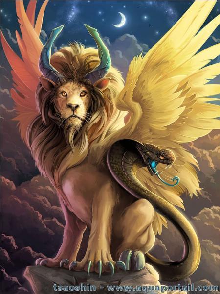 Quelle créature avait une apparence de lion, une queue de serpent et pouvait cracher du feu ?