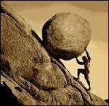 Qui fut condamner à pousser éternellement une lourde pierre qui retombait sans cesse en bas de la pente ?