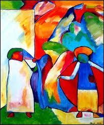Sur la photo, qui parmi ces 3 peintres a peint de tableau ?