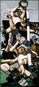 Qui a peint  Les joueurs de rugby  ?