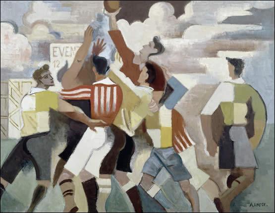 Qui a peint  Partie de rugby  ?