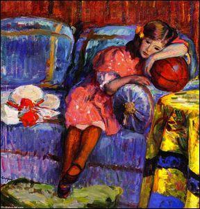 Qui a peint  Jeune fille et le ballon rouge  ?