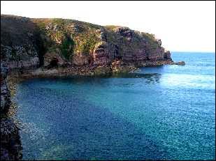 Le cap Fréhel constitue une réserve ornithologique le long de la Côte d'Émeraude, en Bretagne. C'est l'un des sites naturels les plus connus des ...