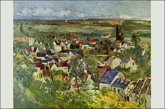 Ce tableau représente la ville où il s'installa en 1872 :