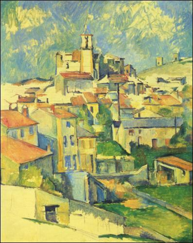 Où réside Cézanne en 1885 ?