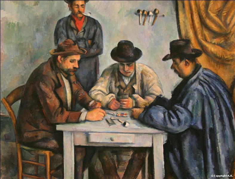 Combien cette oeuvre qui est une version des joueurs de cartes a-t-elle été vendue après sa mort en 2012 ?