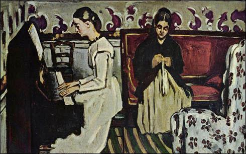 N'oublions pas que Cézanne avait le goût de la musique : Comment avait-il intitulé cette toile représentant une jeune femme au piano ?