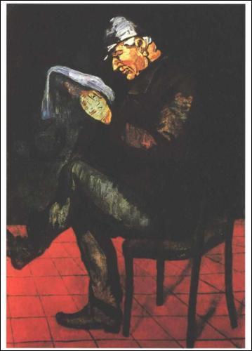 Voici son père peint en 1865. Quel était son premier métier ?