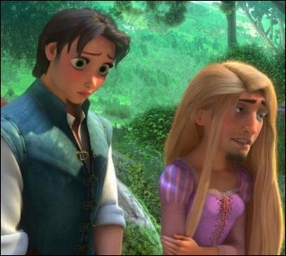 Si vous reconnaissez le personnage de droite, vous trouvez cette expression, qui n'est pas du tout tirée par les cheveux !