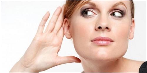 La partie du corps qui sert à entendre s'appelle :