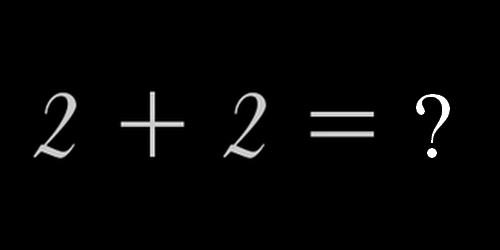 """Quel est le résultat de cette addition : """"2+2"""""""