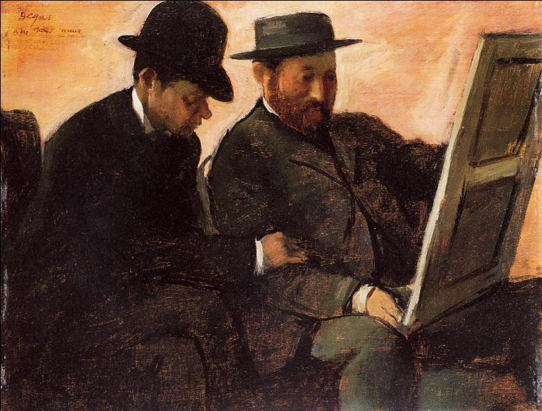 """Qui a peint Paul Lafond sur cette toile nommée """"Les amateurs"""" ?"""