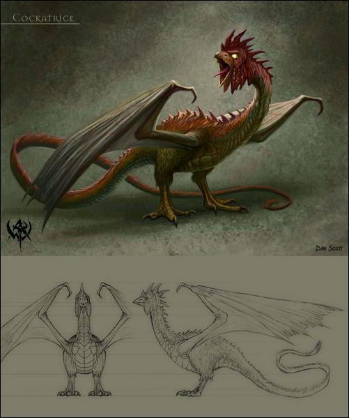 Quelle est cette créature légendaire, mentionnée dès l'Antiquité, souvent représentée comme un reptile ?