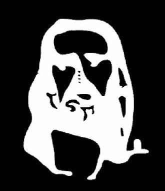 Regardez bien pendant 30 secondes les 4 points noirs au centre de l'image, puis, regardez une surface blanche comme un mur en clignant des yeux, vous remarquerez un visage, lequel ?