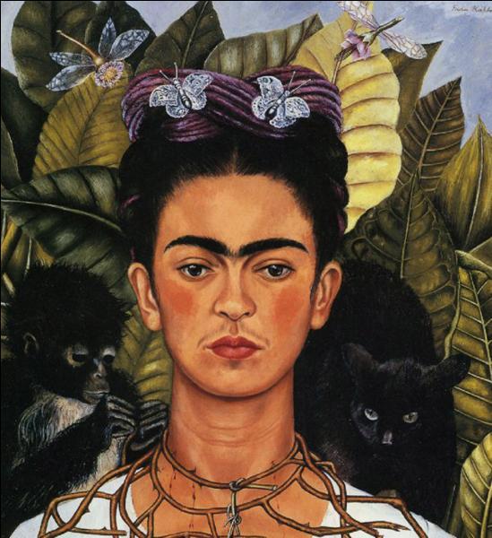 Cette femme peintre est l'auteure de nombreux autoportraits, et elle se représente plusieurs fois en compagnie de singes. Comment s'appelle-t-elle ?