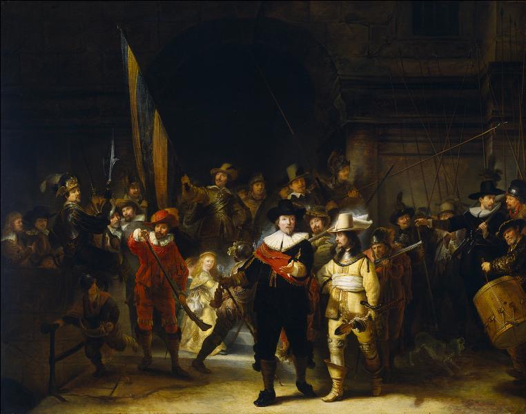 Sous quel surnom est connu ce tableau du grand peintre Rembrandt, exposé au Rijksmuseum d'Amsterdam ?