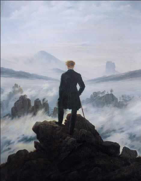 Quel est ce tableau de Caspar David Friedrich, montrant un homme en pleine contemplation ?