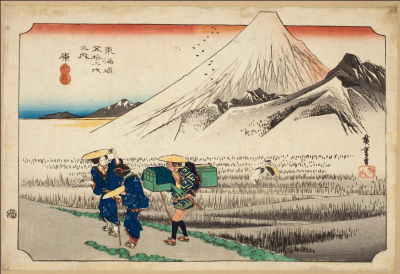 """Qui est l'auteur du """"Tokaido"""", oeuvre portant le même nom que la route mythique japonaise ?"""