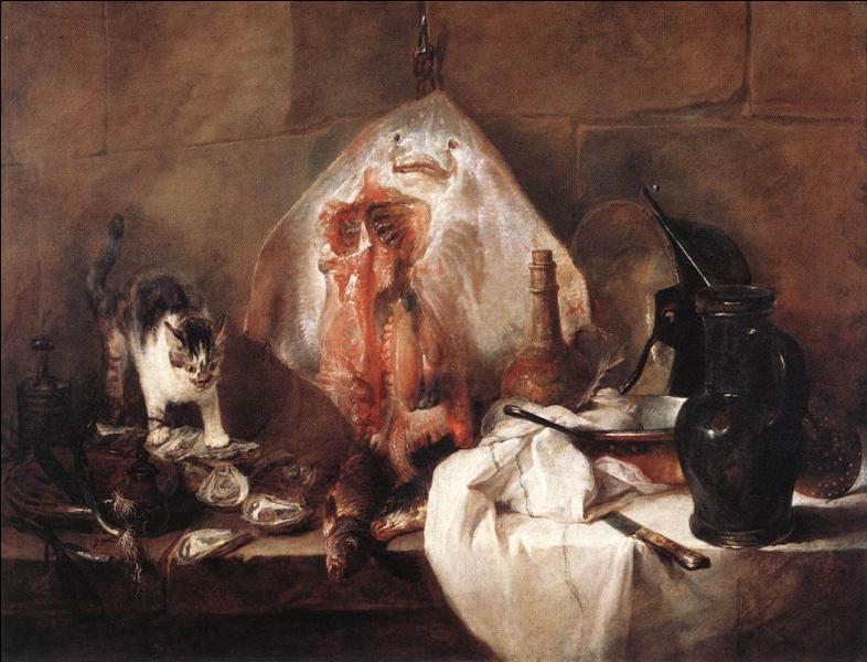 Comment s'appelle cette nature morte de Jean-Baptiste Siméon Chardin, qui suscita à l'époque une réaction d'horreur ?