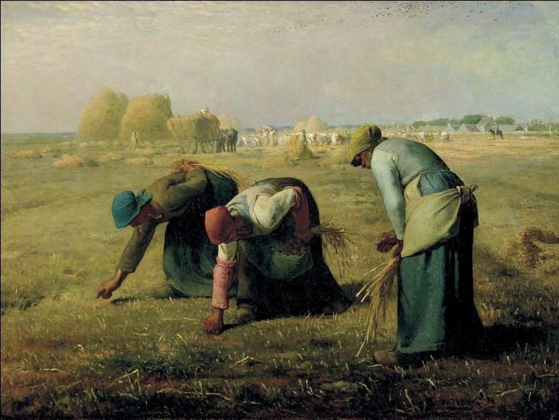 Comment se nomme ce tableau de l'école de Barbizon, représentant le labeur des paysannes dans un champ (peint par Jean-François Millet) ?